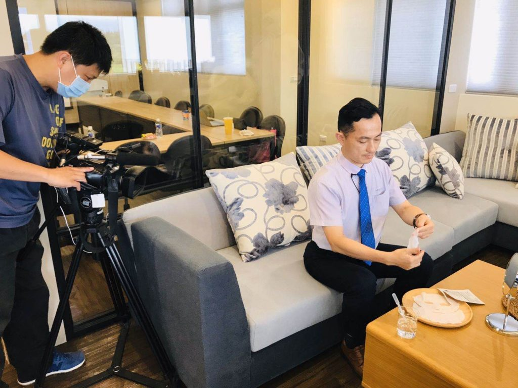 CEO. Wei was interviewed with Era News Channel reporter